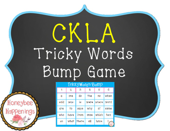 CKLA Tricky Words Bump Game