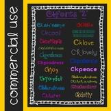 CKfonts {Set 2} More Fonts for Teachers! (20 Fonts for Com