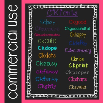 CKfonts 20 Fonts for Teachers! (Commercial Use)