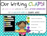 CLAPS Posters to TEACH Writing Conventions
