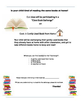 CLASS BOOK SWAP/EXCHANGE PARENT LETTER