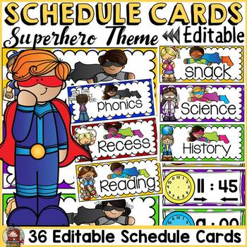 CLASS DECOR: SCHEDULE CARDS {BACK TO SCHOOL}