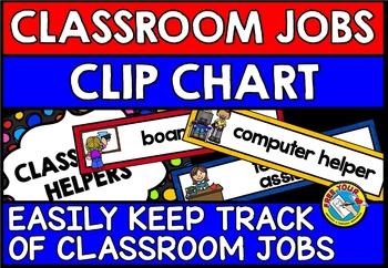 CLASSROOM JOBS CHART: CLASSROOM HELPERS CLIP CHART:CLASSRO