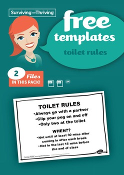 CLASSROOM MANAGEMENT - Toilet Rules