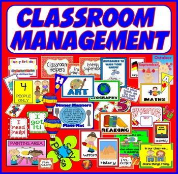 CLASSROOM MANAGEMENT -EYFS KS1-2 JOBS CERTIFICATES BIRTHDA