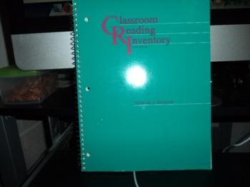 CLASSROOM READING INVENTORY ISBN 0-697 00799 5