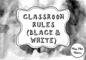 CLASSROOM RULES POSTERS (BLACK AND WHITE)