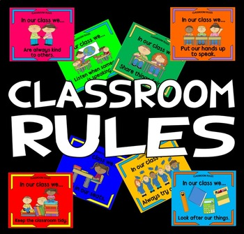 CLASSROOM RULES POSTERS TEACHING RESOURCES BEHAVIOUR EARLY