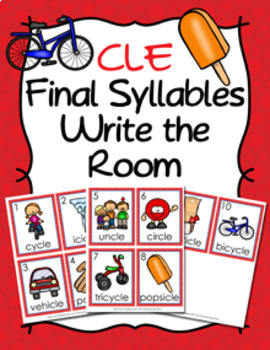 CLE Final Stable Syllable Words Write the Room
