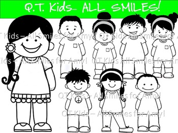 CLIP ART -  QT~Kids - ALL SMILES for Amy! - Personal and C