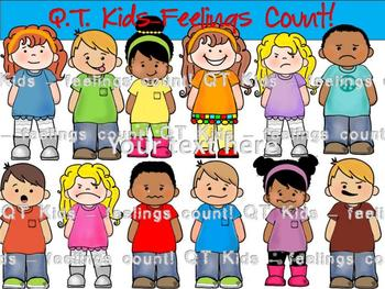 CLIP ART -  QT~Kids... Feelings Matter!  - Personal and Co
