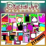CLIP ART: Digital Paper Notebook Book Cover