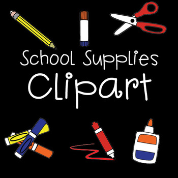 CLIP ART - School Supplies Pictures