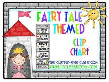 CLIP CHART BEHAVIOR PLAN for a FAIRY TALE CLASSROOM THEME