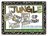 CLIP CHART BEHAVIOR PLAN for a JUNGLE ~ SAFARI CLASSROOM THEME