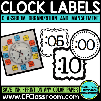 CLOCK LABELS | Telling Time to the Minute | Telling Time C