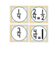 CLOCK NUMBERS with Fractions & Bonus Direction Signs - Polka Dot