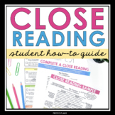 CLOSE READING: Presentation, Student Guide & Annotation As