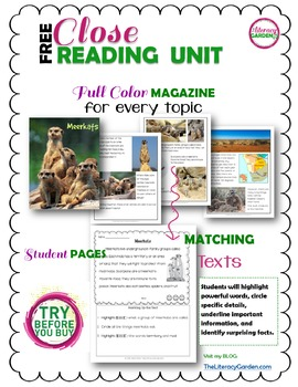 CLOSE READING to Improve Comprehension {FREE SAMPLE}