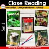 CLOSE READING to Improve Comprehension  {Unit 1 }