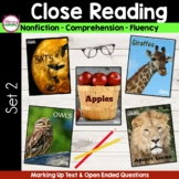 CLOSE READING to Improve Comprehension  {Unit 2 }
