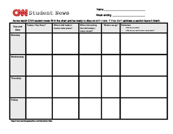 CNN student news worksheet revised