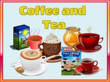 COFFEE and TEA FLASHCARDS (Restaurant Menu)