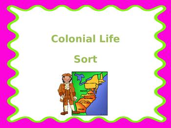 COLONIAL LIFE SORT