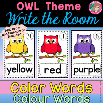 COLOR {COLOUR} WORDS - Write the Room {OWLS}
