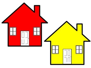 COLOR HOUSES WITH MATCHING KEYS
