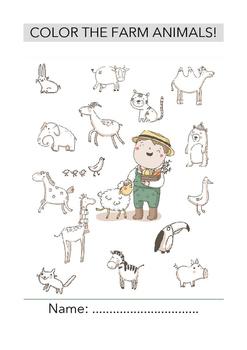 COLOR THE FARM ANIMALS!