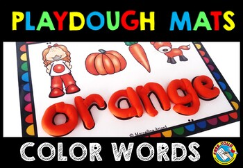 COLOR ACTIVITIES: COLOR WORDS PLAYDOUGH MATS: COLORS PLAYD