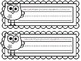 COLOR YOUR OWN Owl Nameplates w/ Print Alphabet ~ 8 Differ