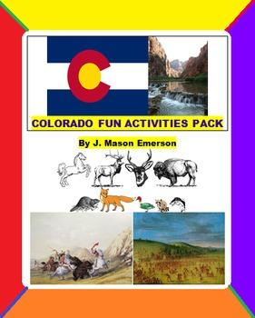 COLORADO FUN ACTIVITIES PACK (CCSS, TESTS, FUN ACTIVITIES,