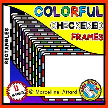 RECTANGLE FRAMES: COLORFUL RECTANGLE CHECKERED FRAMES CLIPART