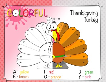Thanksgiving Activities - Color By Letter Upper/Lowercase