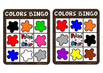 COLORS BINGO GAME (American vocabulary)