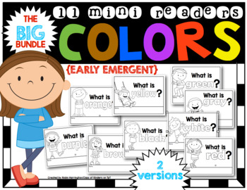 COLORS: THE BIG BUNDLE {11 Early Emergent MINI Readers} fo