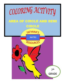 COLOURING ACTIVITY - Area of Circle and Semicircle
