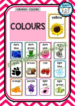 Back To School - COLOURS CHART - Classroom Decor - Posters