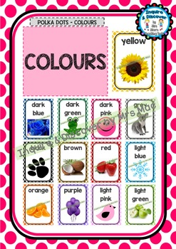 Back To School COLOURS CHART - Classroom Decor - Posters -