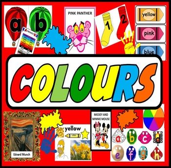 COLOURS TEACHING RESOURCES DISPLAY ART DISPLAY EARLY YEARS