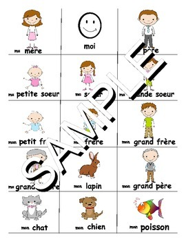 Family / La famille FRENCH Workbook & Games Package