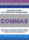 COMMA REVIEW or QUIZ