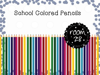 "COMMERCIAL USE: ""School Day Colored Pencils"" Clip Art"