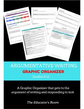 COMMON CORE ALIGNED Argumentative Essay Graphic Organizer