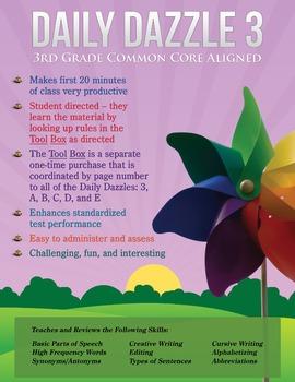 FREE COMMON CORE ALIGNMENT FOR DAILY DAZZLE 3 (3rd Grade)
