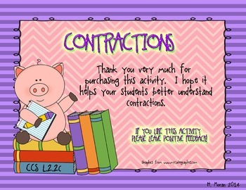*COMMON CORE Contractions Unit