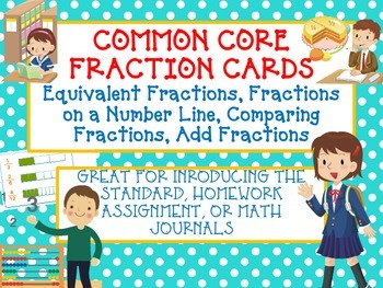 COMMON CORE FRACTION TASK CARDS Equivalent, Number Line, C