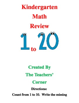 Common Core Kindergarten Math Review---Bundle Pack: Counti